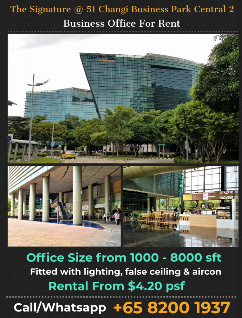The Signature Changi Business Park Office for rent
