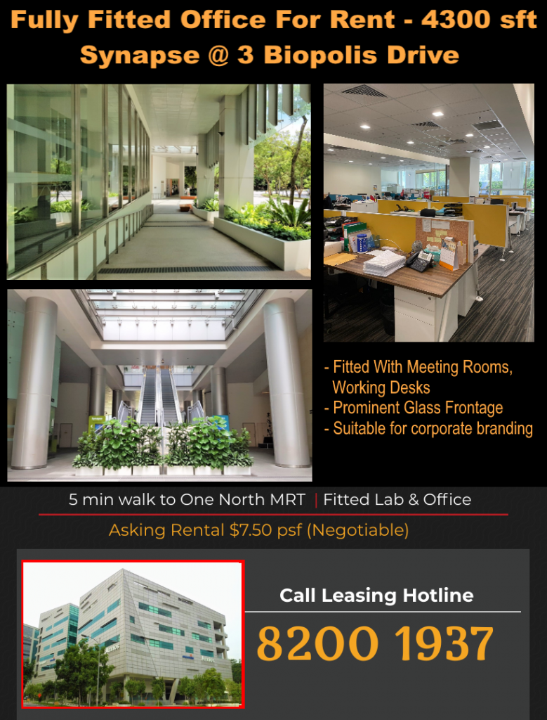 Biopolis office space for rent Synapse